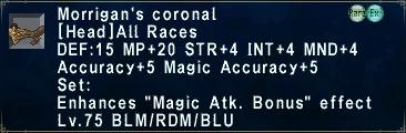 Morrigan's Coronal