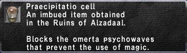 Praecipitatio Cell