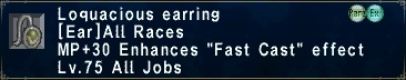 Loquacious Earring