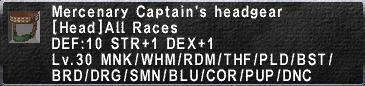 Mercenary Captain's Headgear