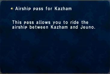 Airship pass for Kazham