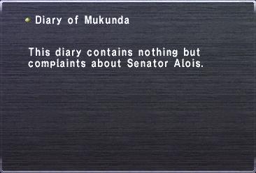 Diary of Mukunda