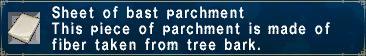 Bast Parchment