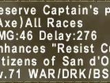 Reserve Captain's Pick