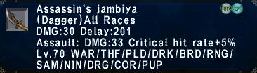 Assassin's Jambiya