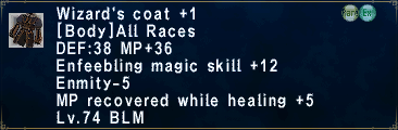 Wizard's Coat Plus 1