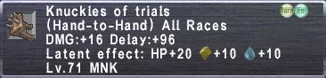 Knuckles of Trials
