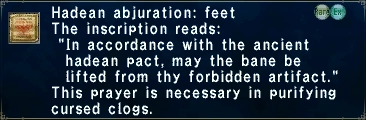 Hadean Abjuration: Feet