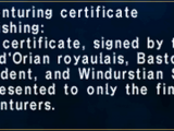 Adventuring Certificate