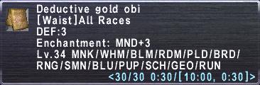 Deductive Gold Obi