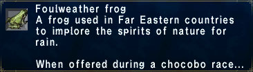 Foulweather Frog