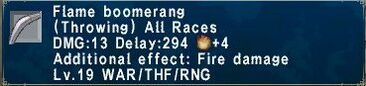 Flame Boomerang