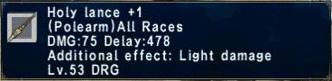 Holy Lance +1