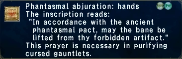 Phantasmal Abjuration: Hands