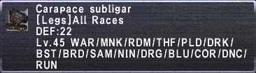 Carapace Subligar