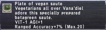 Vegan Saute
