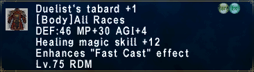 Duelist's Tabard +1