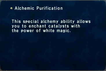 Alchemic Purification