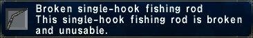 Broken Single Hook Fishing Rod