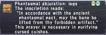 Phantasmal Abjuration: Legs