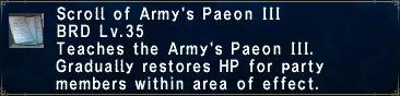 Army's Paeon III
