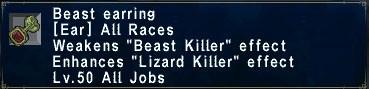 Beast Earring