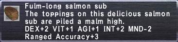 Fulm-long Salmon Sub