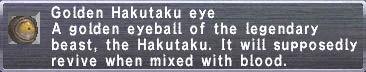 Golden Hakutaku Eye