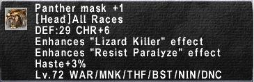Panther Mask +1