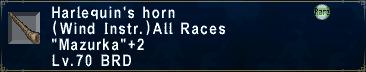 Harlequin's Horn