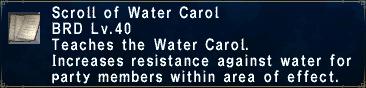 Water Carol