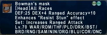 Bowman's Mask