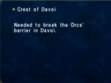 Crest of Davoi (Key Item)