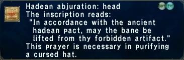 Hadean Abjuration: Head