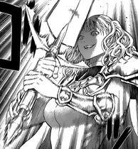 La spada del demone di Roxanne contro Cassandra