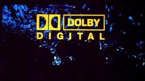 Dolby SRD dts SDDS trailers medley on the screen in THX cinema.
