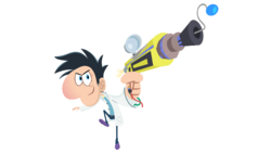 Flint with a blaster.png