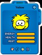 Yellow Puffle Card