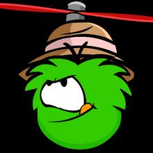 Bowler Propeller Green Puffle.png