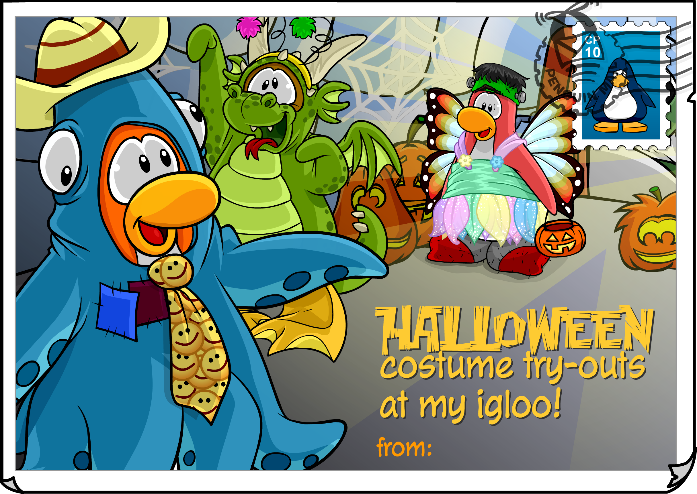 Costume Try-Outs Postcard