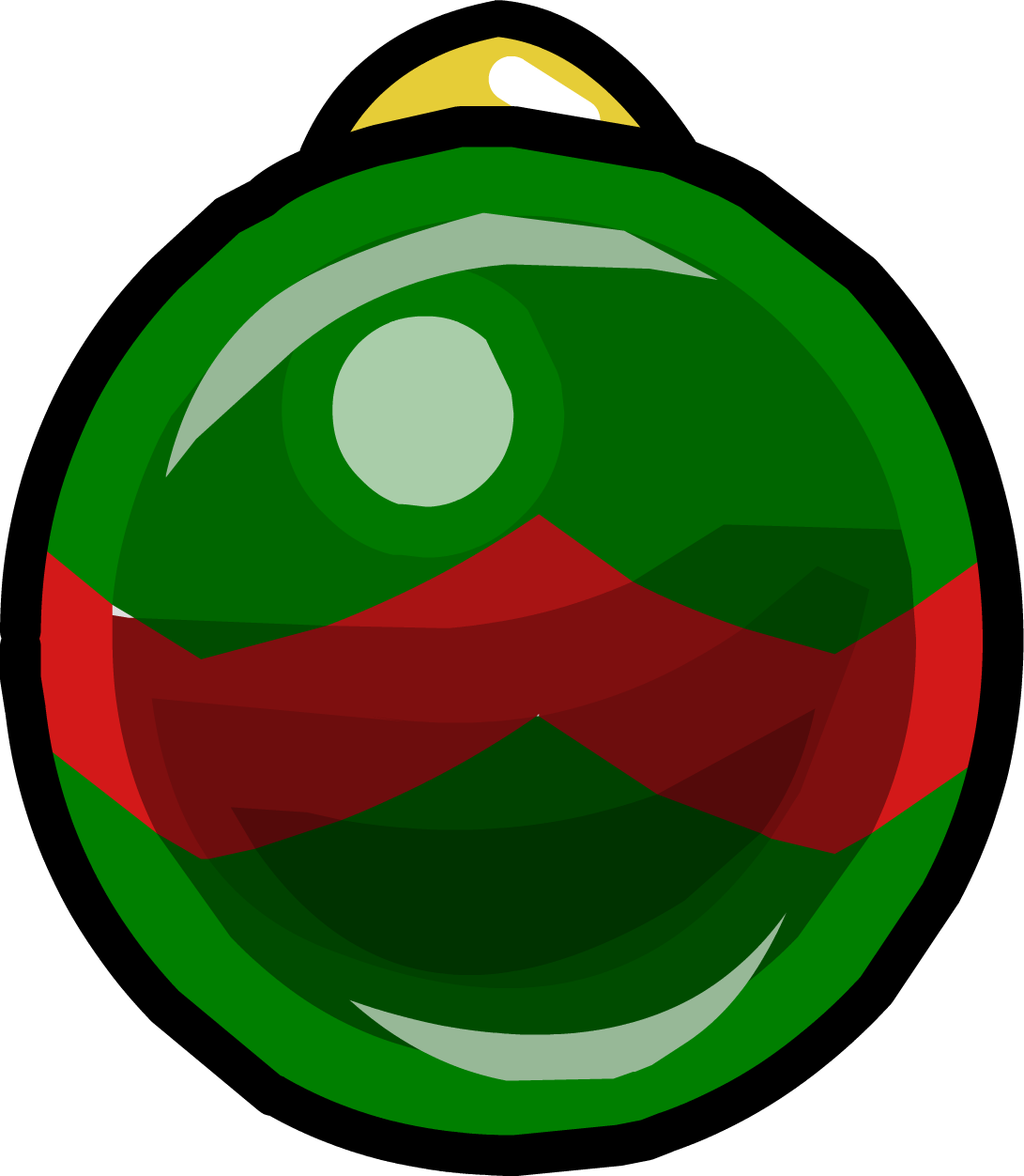 Green and Red Bauble