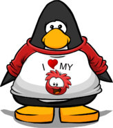 I Heart My Red Puffle T-Shirt PC