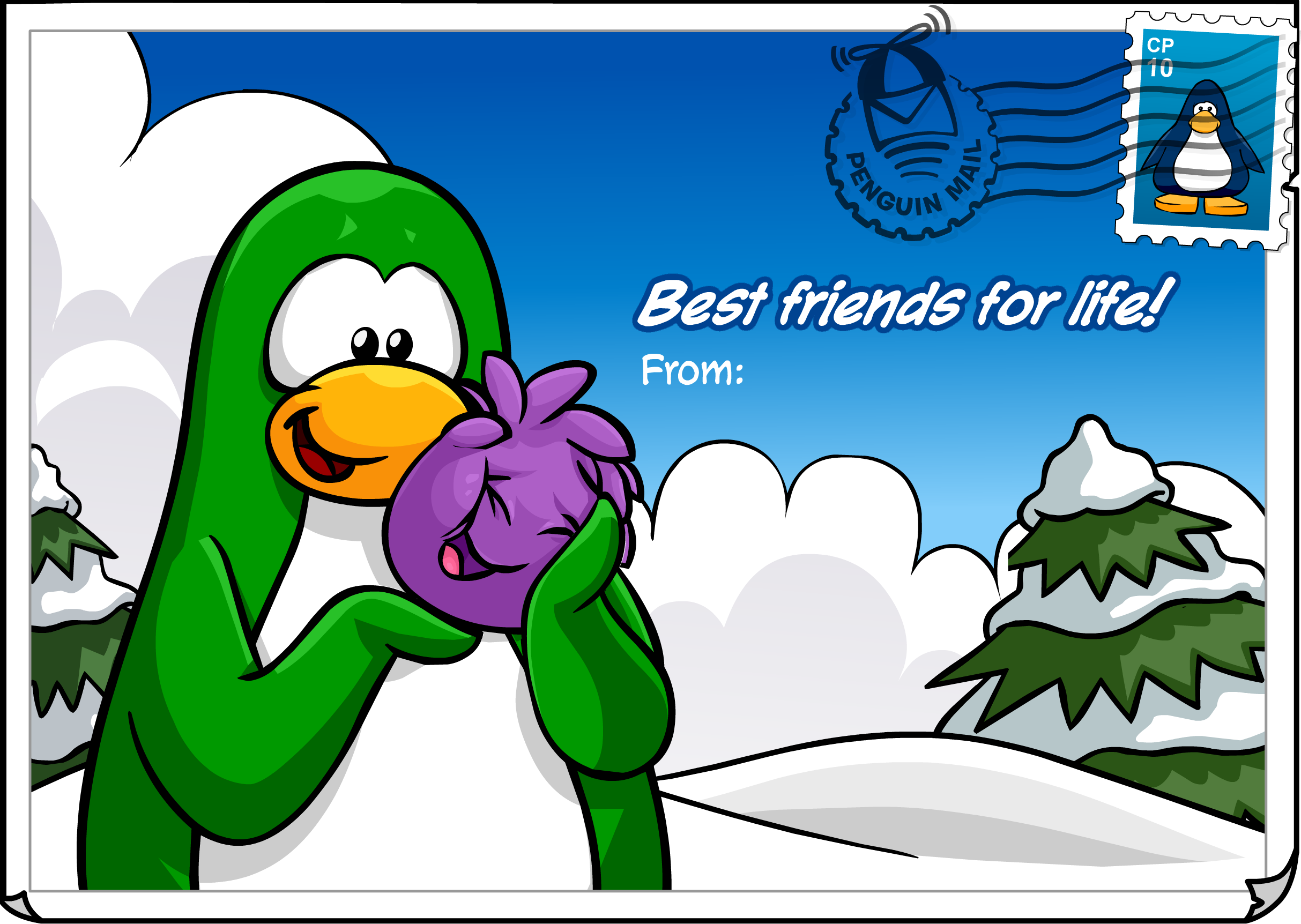 Best Friends Postcard (ID 219)