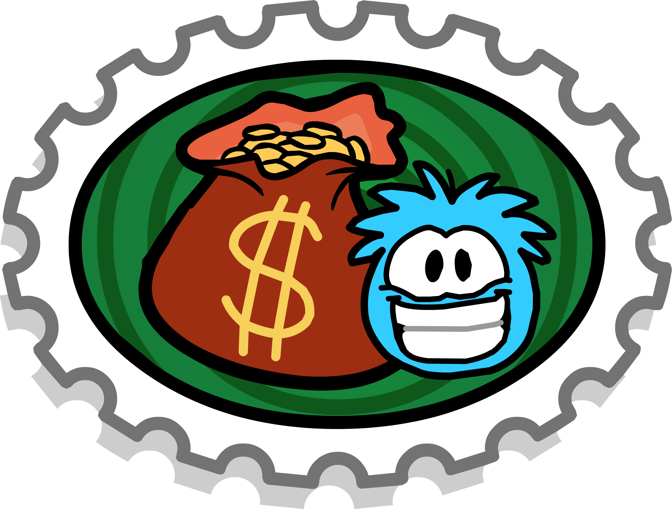 Puffle Dig Stamp