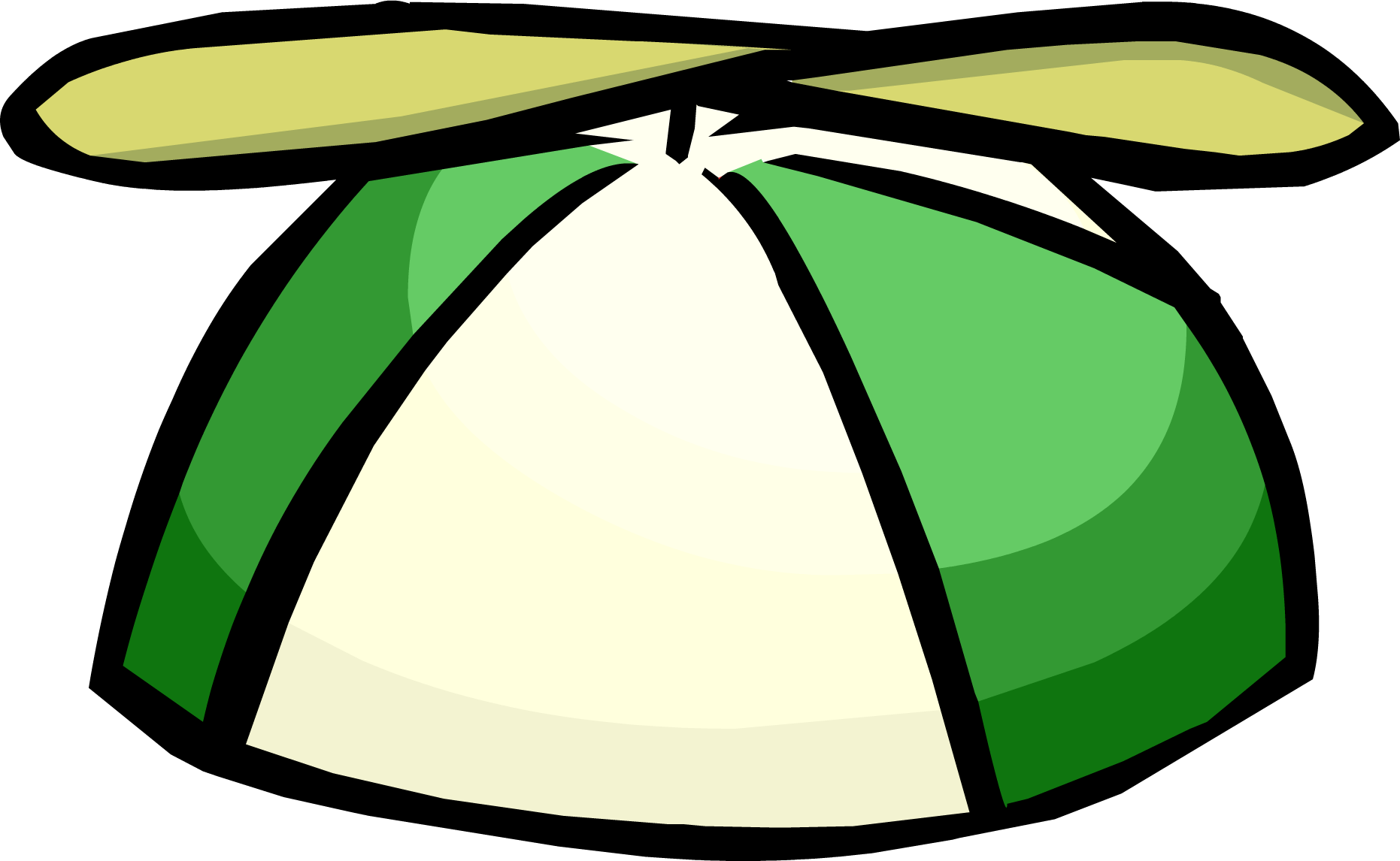 Green Propeller Cap