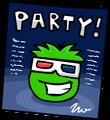 Green Puffle Night Club Poster