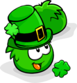 Green Puffle Patty's Hat