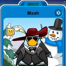 Maah Player Card - Late December 2019 - Club Penguin Rewritten.png