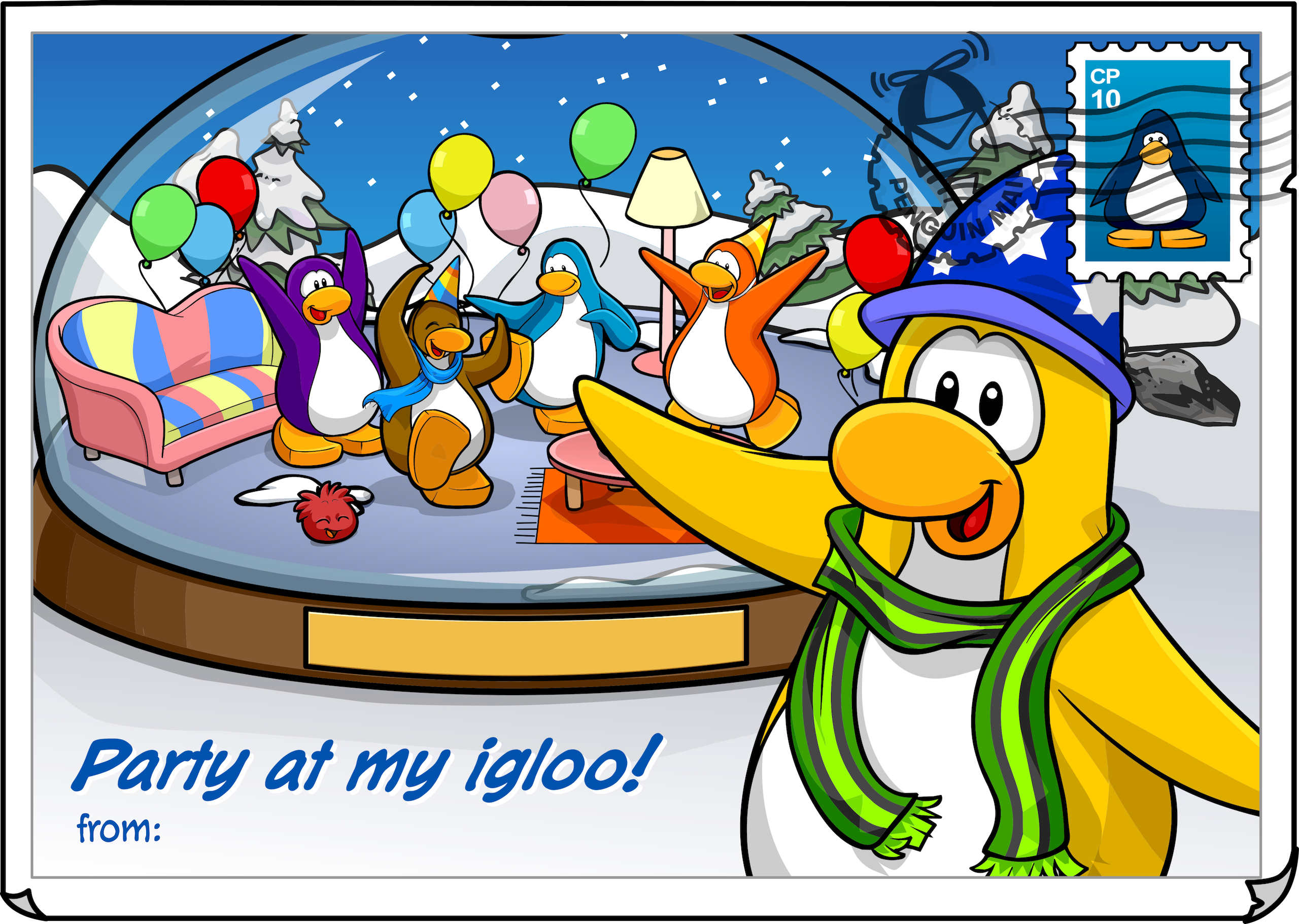 Party at my Igloo Postcard