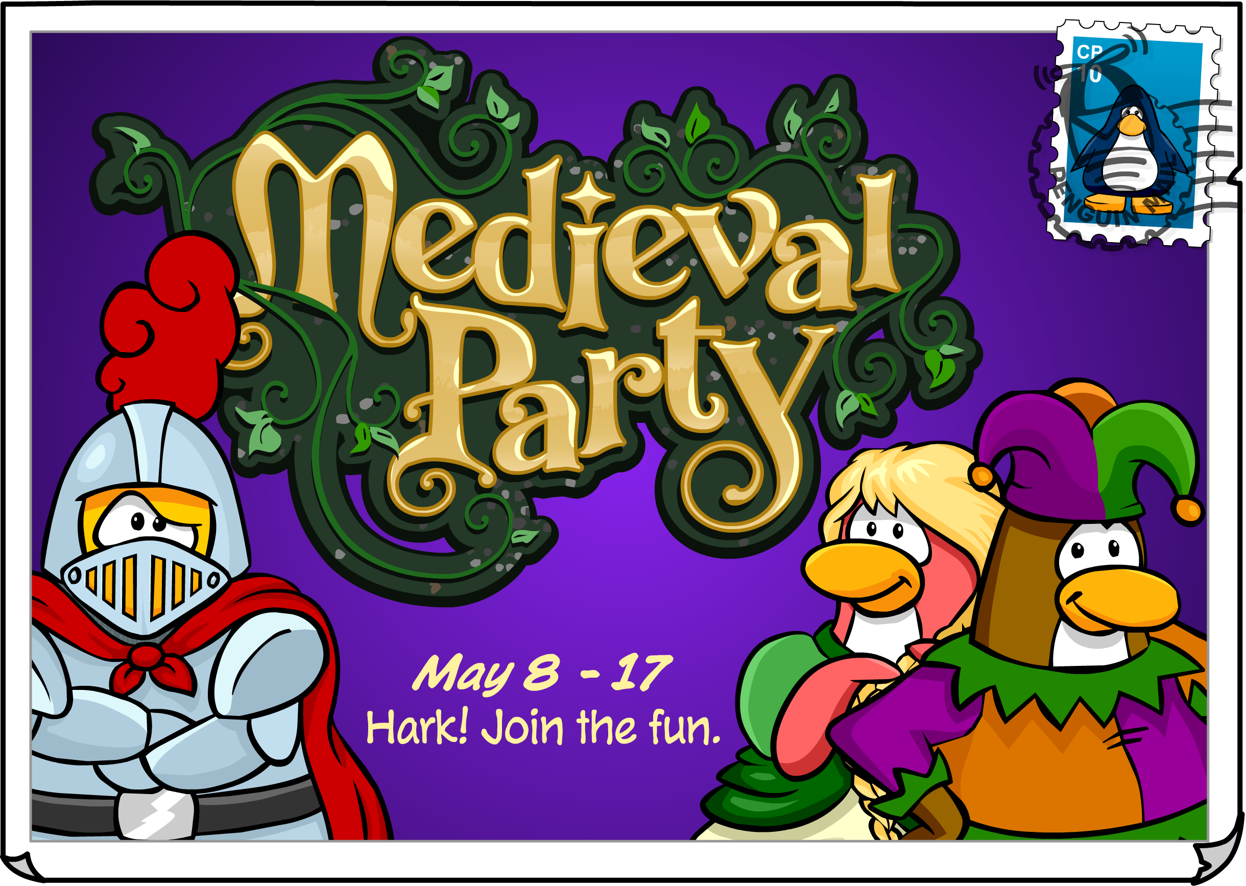Medieval Party Postcard